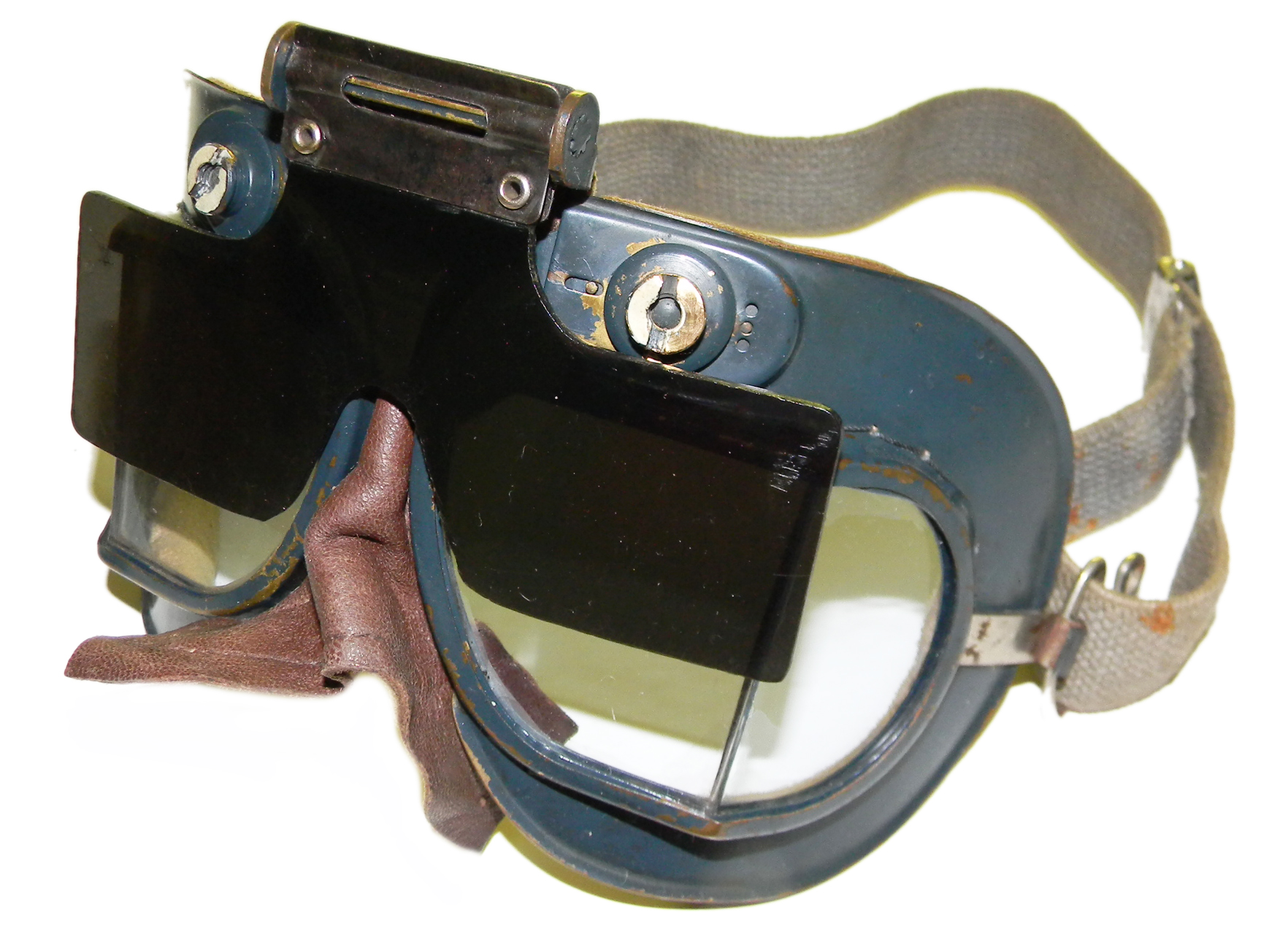 RAF Mk VII goggles with flip-screen