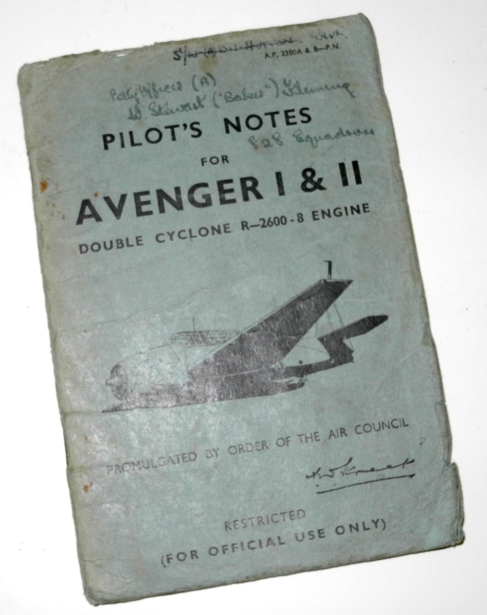 FAA Pilots Notes for Grumman Avenger I & II