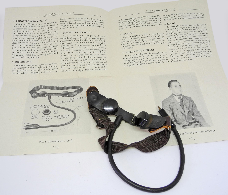 AAF T-30-M throat mic.