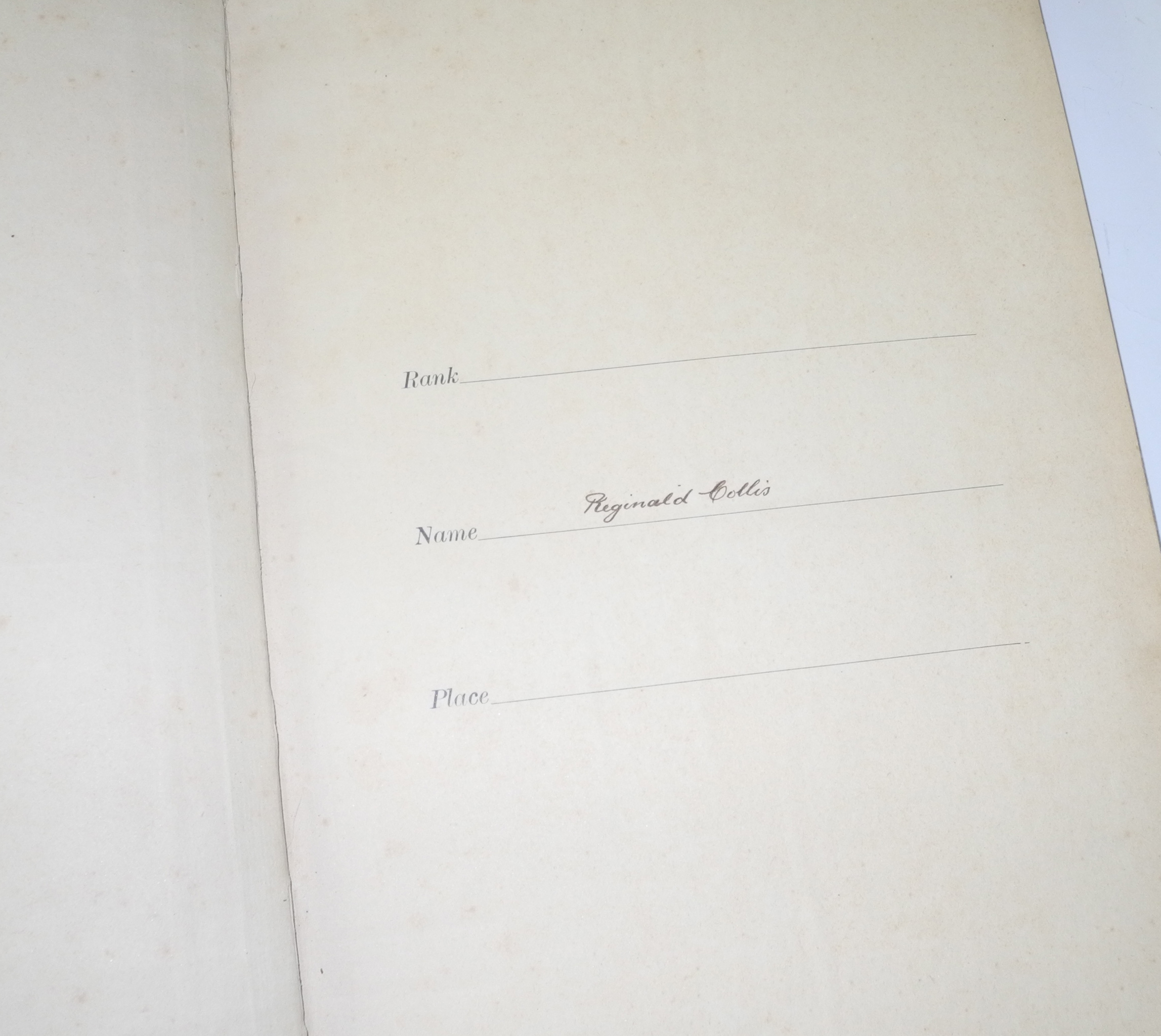 RFC log book from 1913-1916