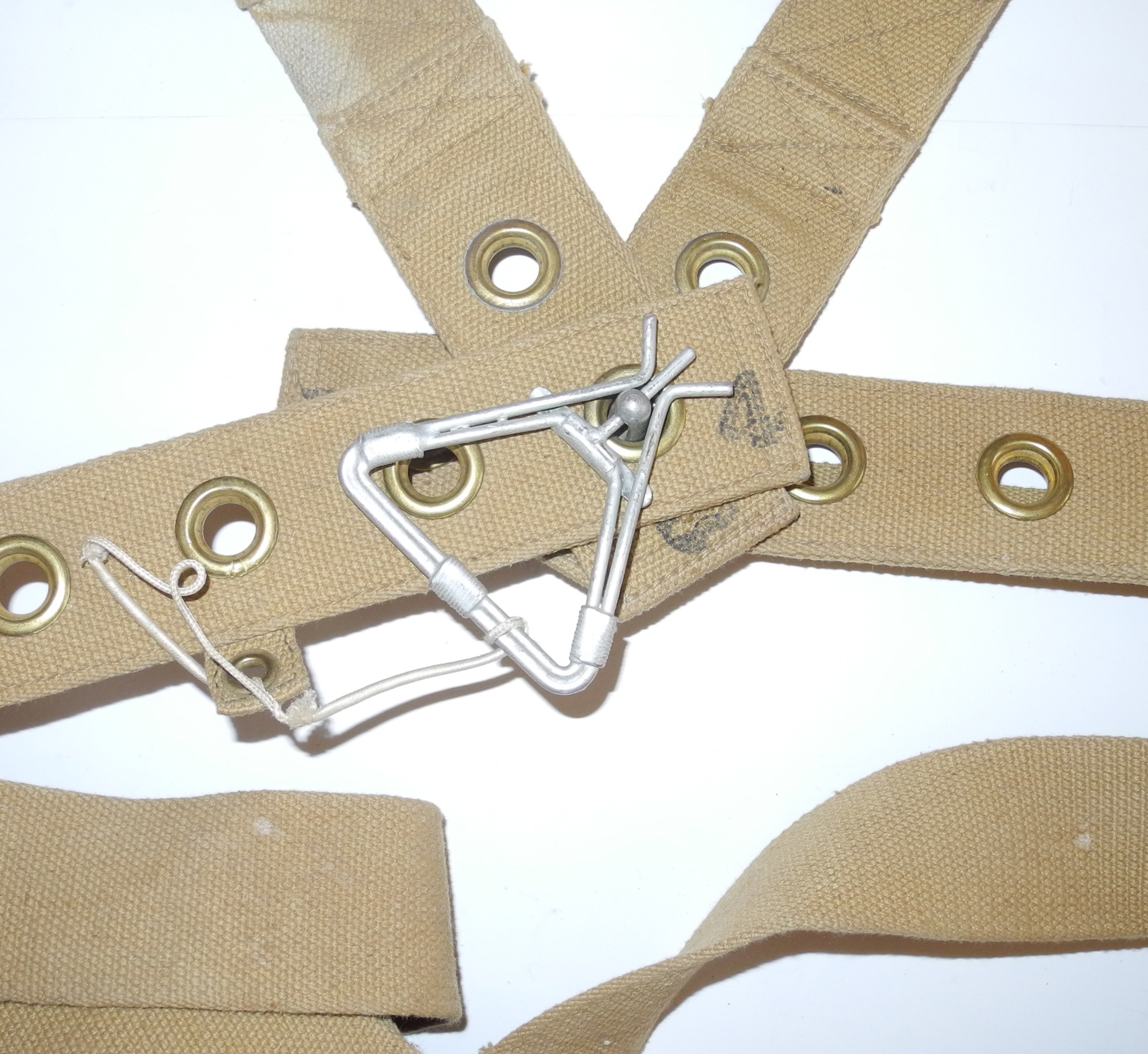 "RAF aircraft seat belt ""Sutton"" Harness dated 1943."