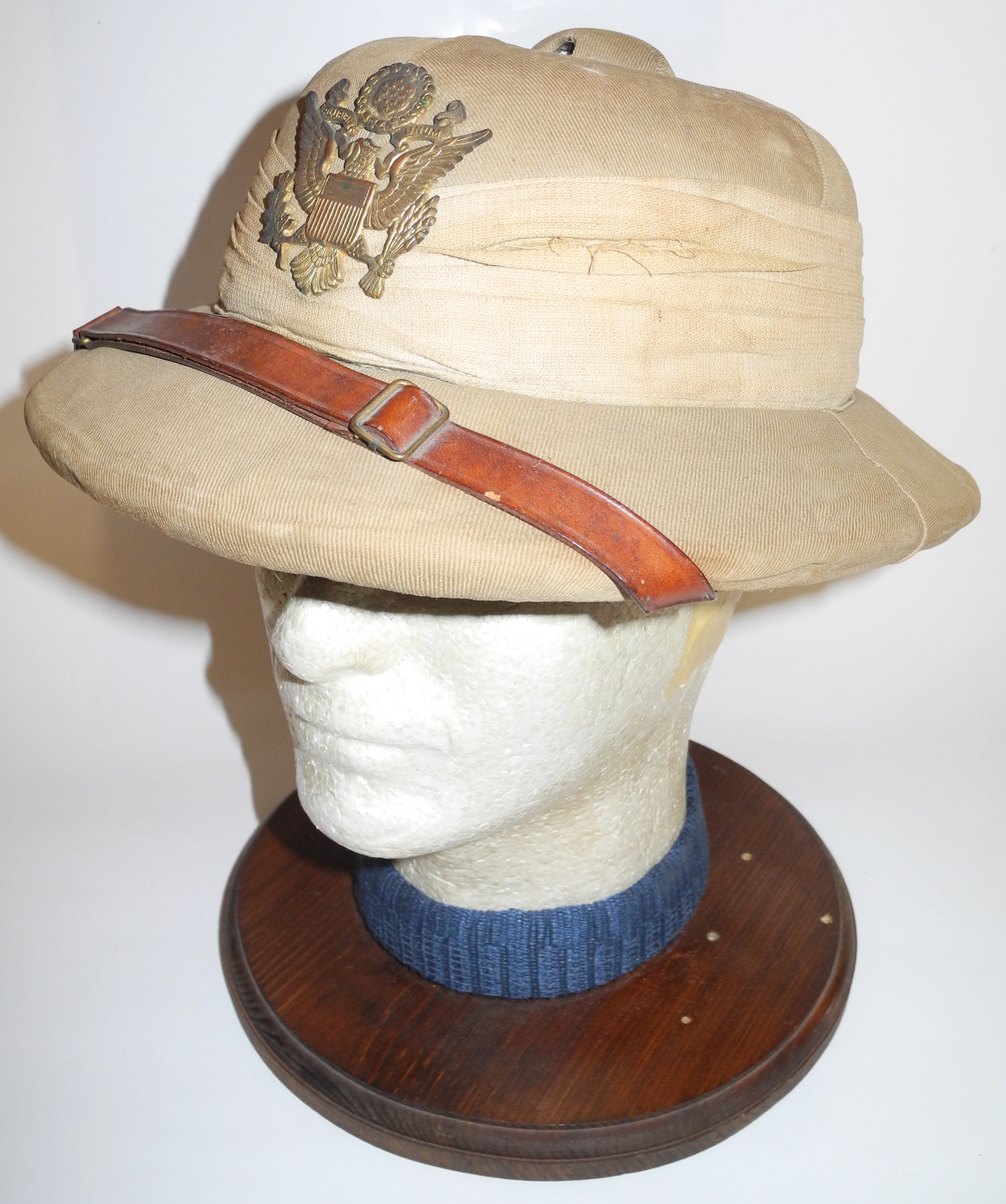 US Army officer's Indian made pith helmet