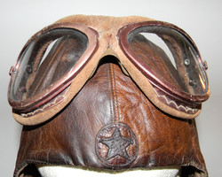 Japanese Army helmet and goggles