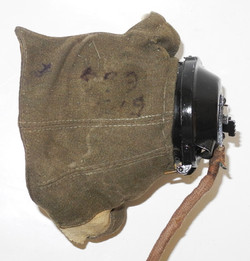 RAF Type D oxygen mask with Type 21 microphone attached including full external wiring loom and bell