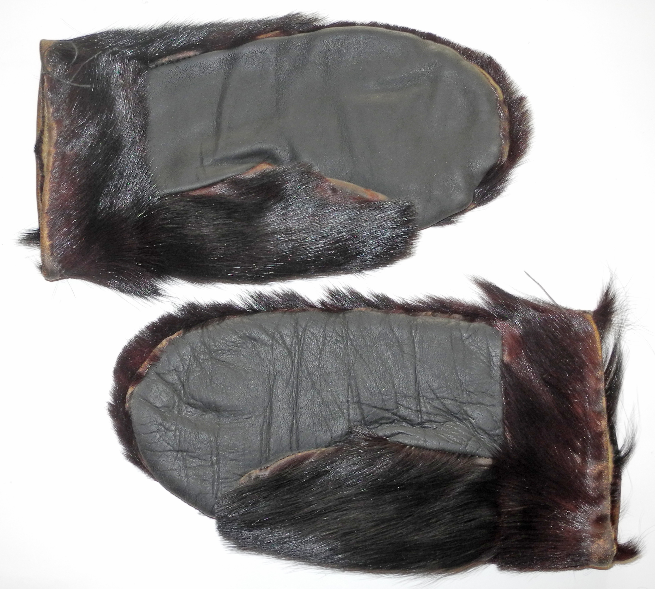 WWI era fur mittens