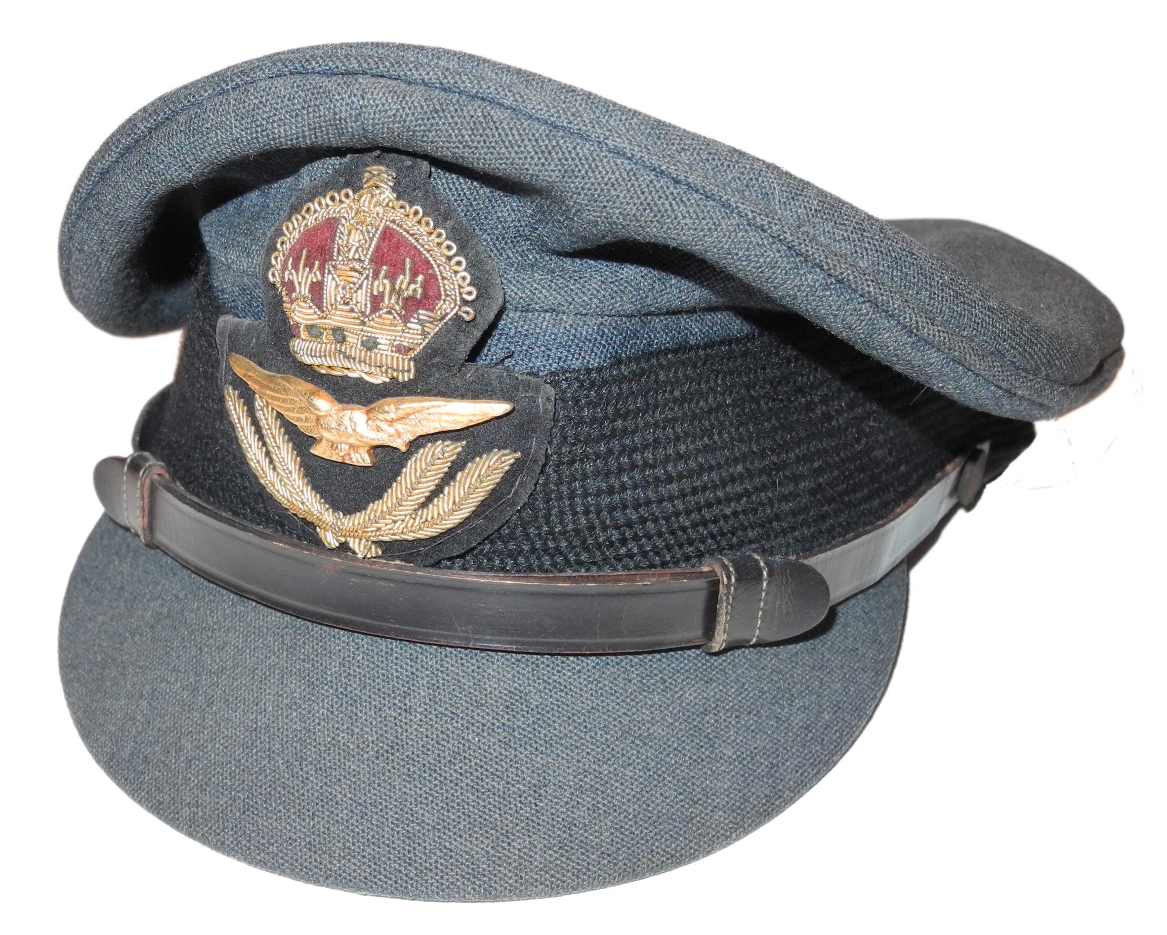RAF officer's visor cap by MOSS Bros