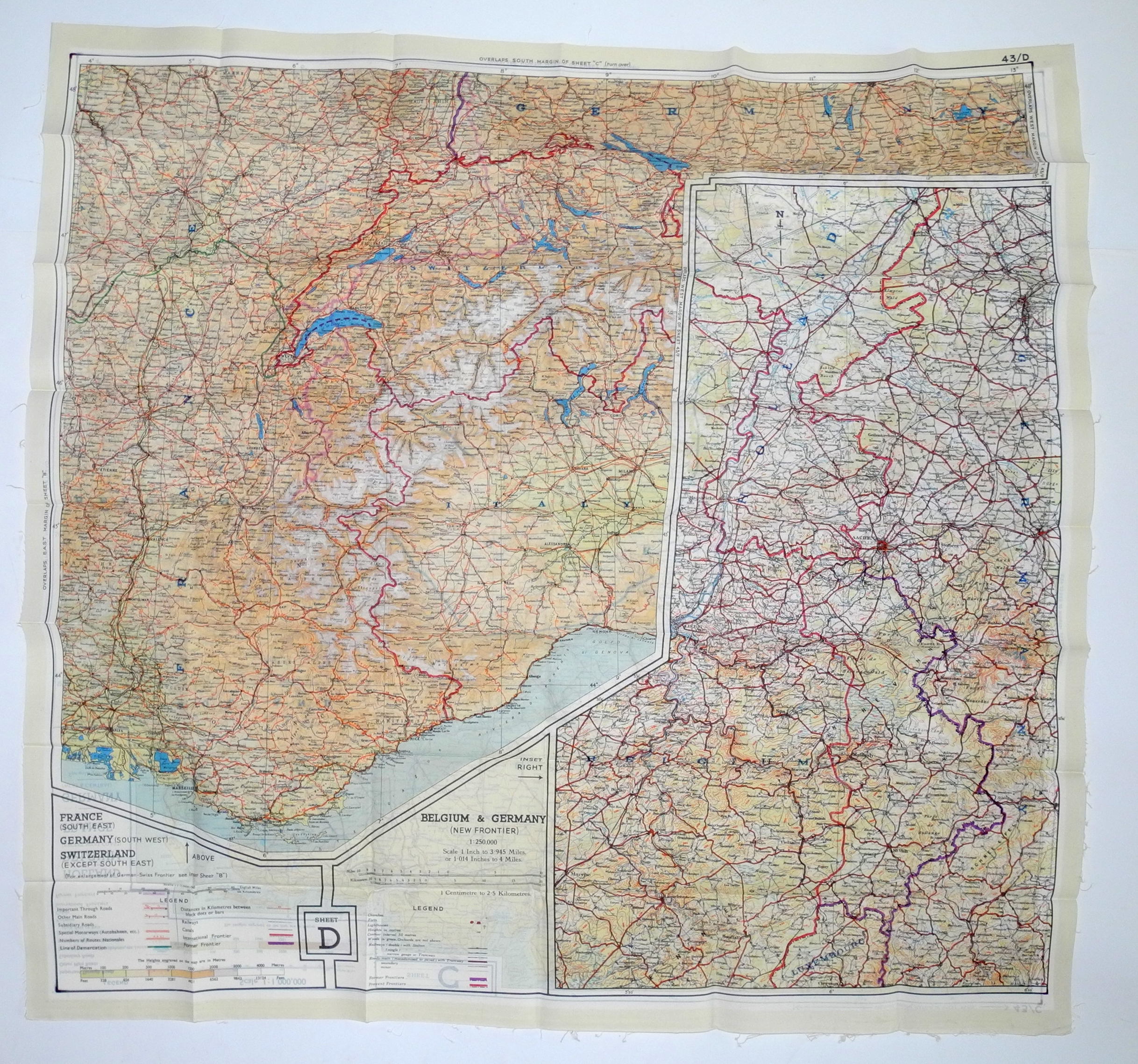 RAF MI9 Escape map, 43 series C/D