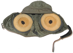 USN green nylon flying helmet