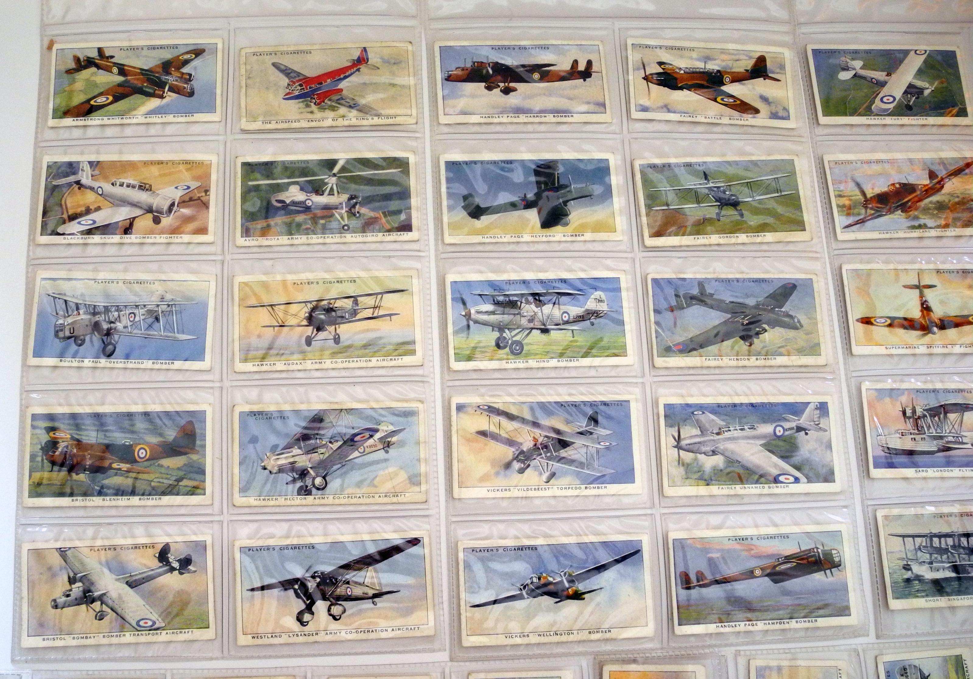 Cigarette cards - RAF aircraft