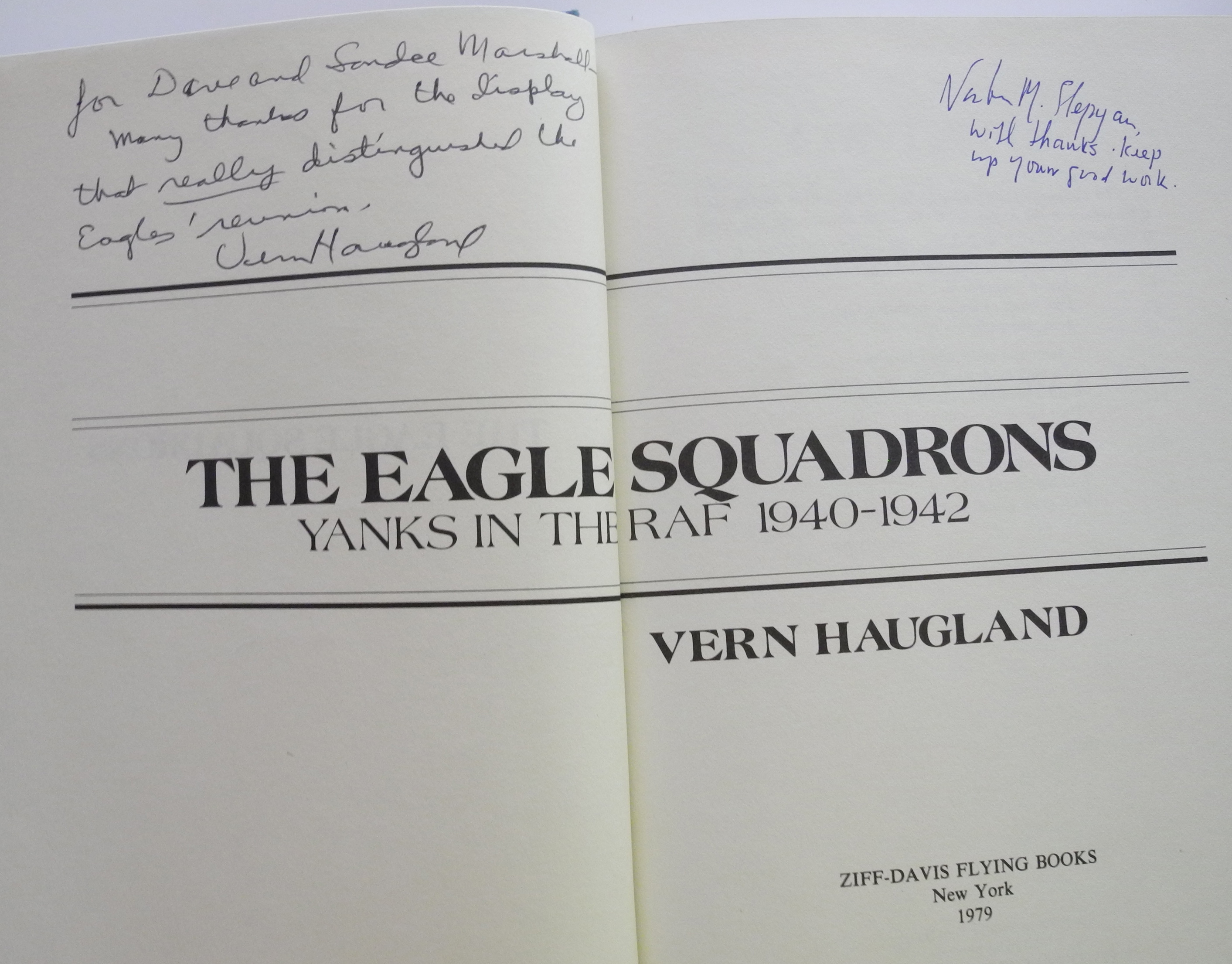Eagles Squadrons signed book