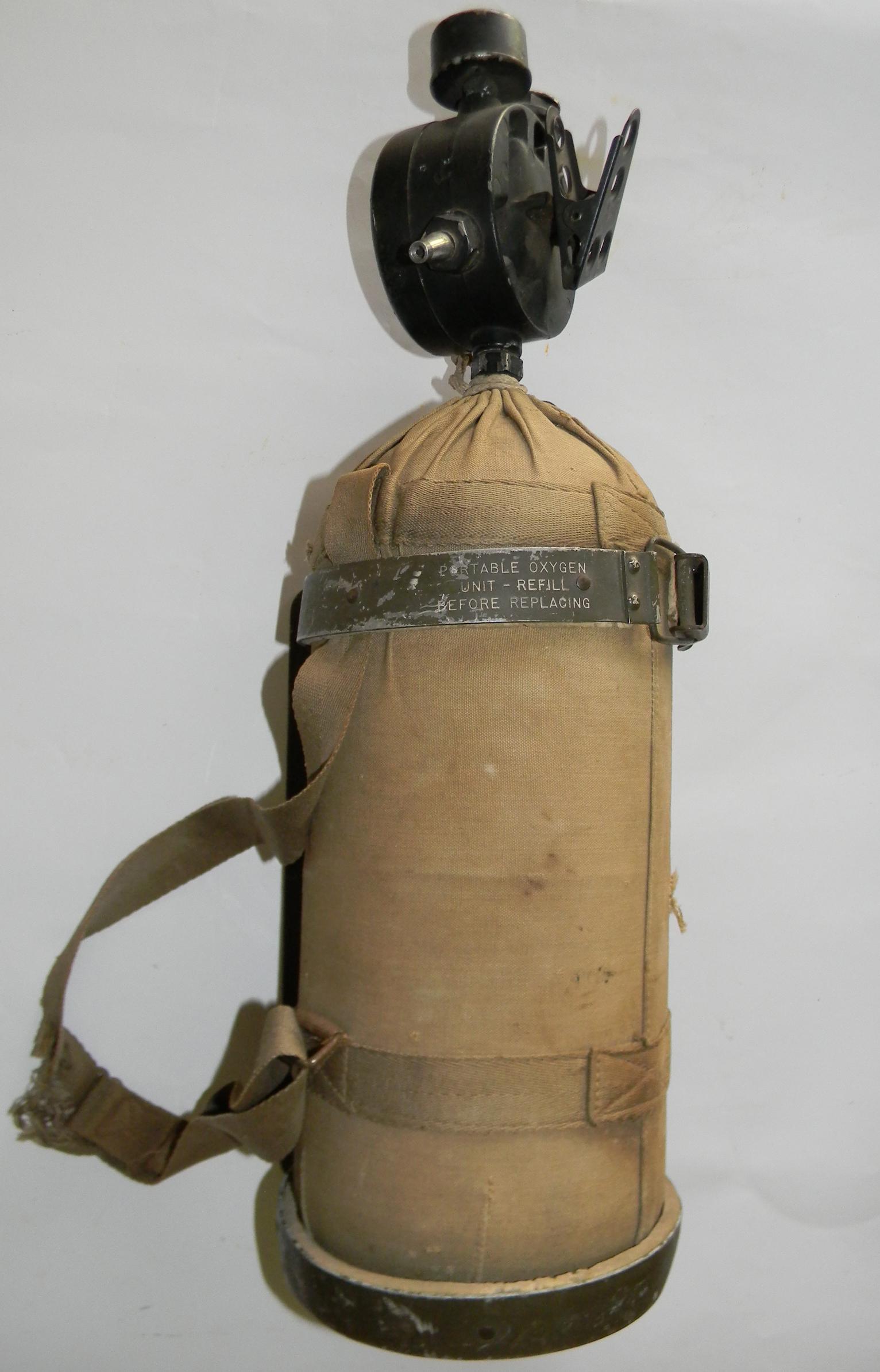 WWII AAF Portable Oxygen Tank
