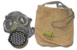 ARP Civilian Service gas mask with bag