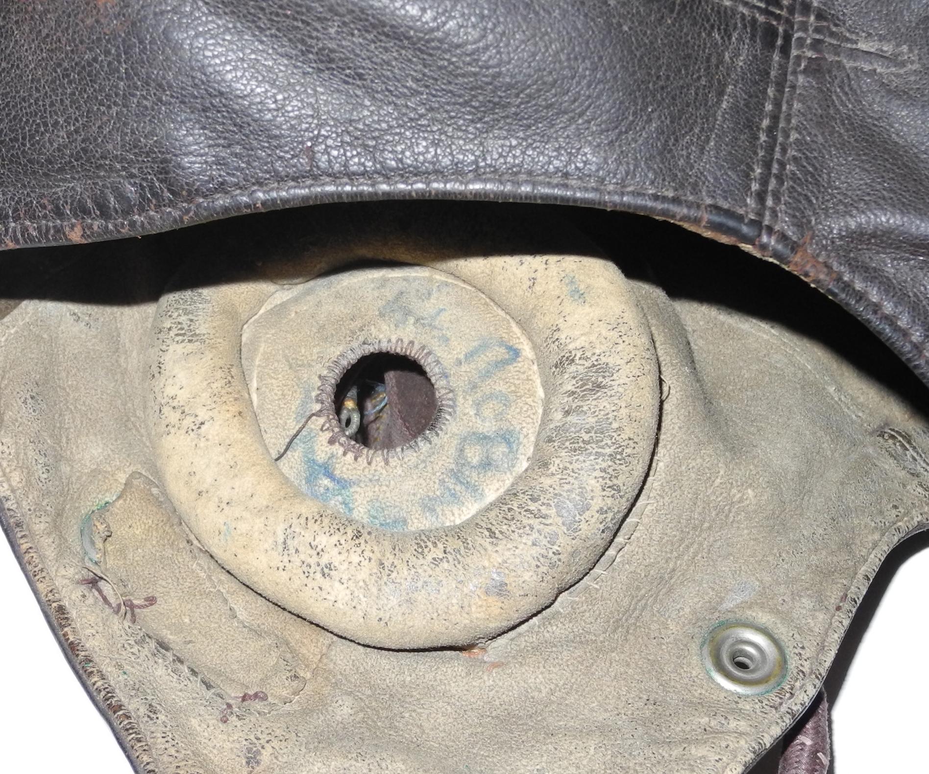 RN Fleet Air Arm Type C helmet with internal wiring