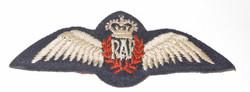 Early post war RAF pilot wing brevet