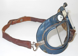 RAF Mk VII goggles, early issue with leather strap.