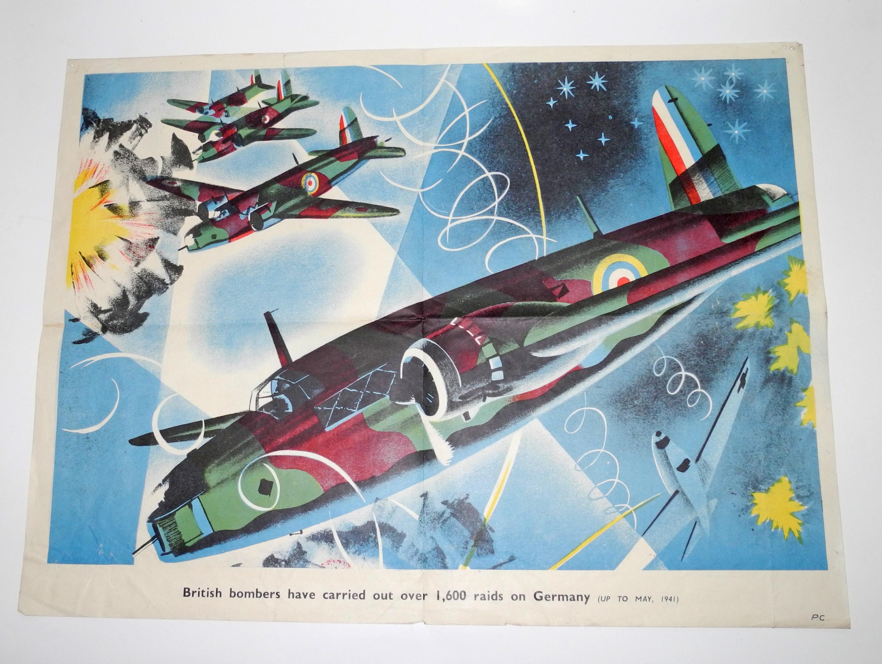 WWII 1941 RAF Information poster