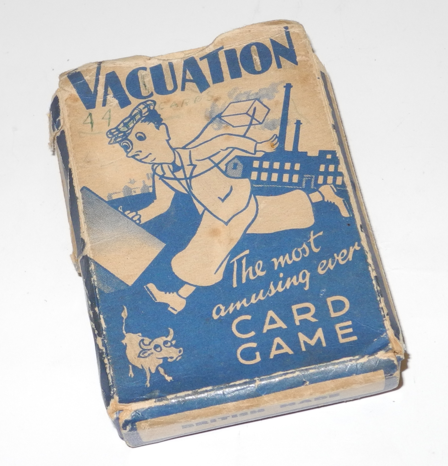 "Home Front card game ""Vacuation."""