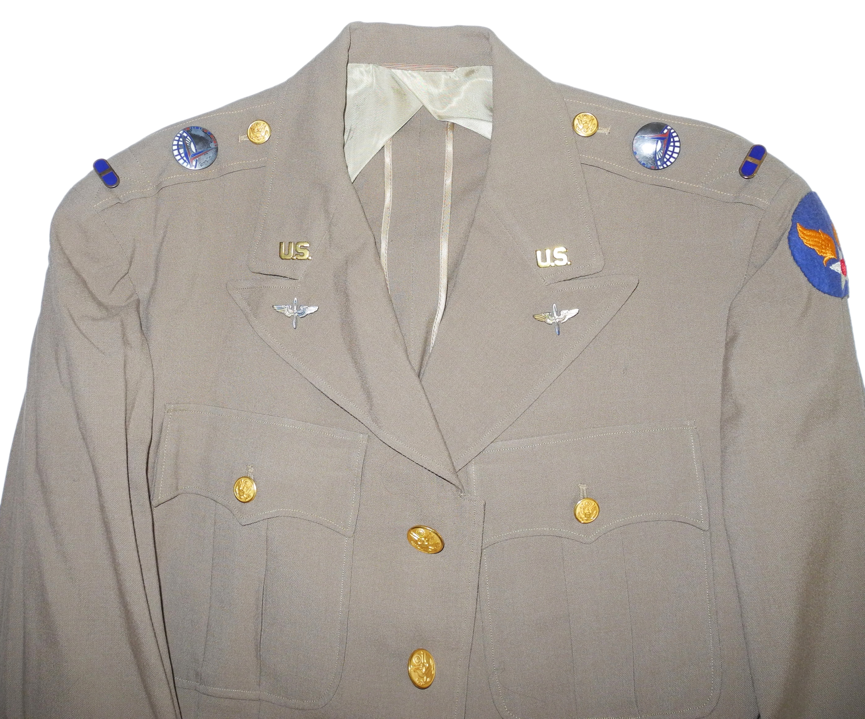 AAF ATC officer's summer 4-pocket tunic