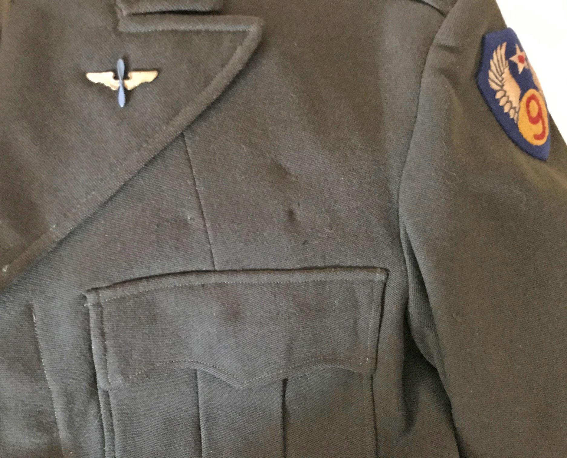 AAF English made Ike jacket 9th Air Force