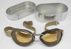 WWI French Aviator's Goggles in case