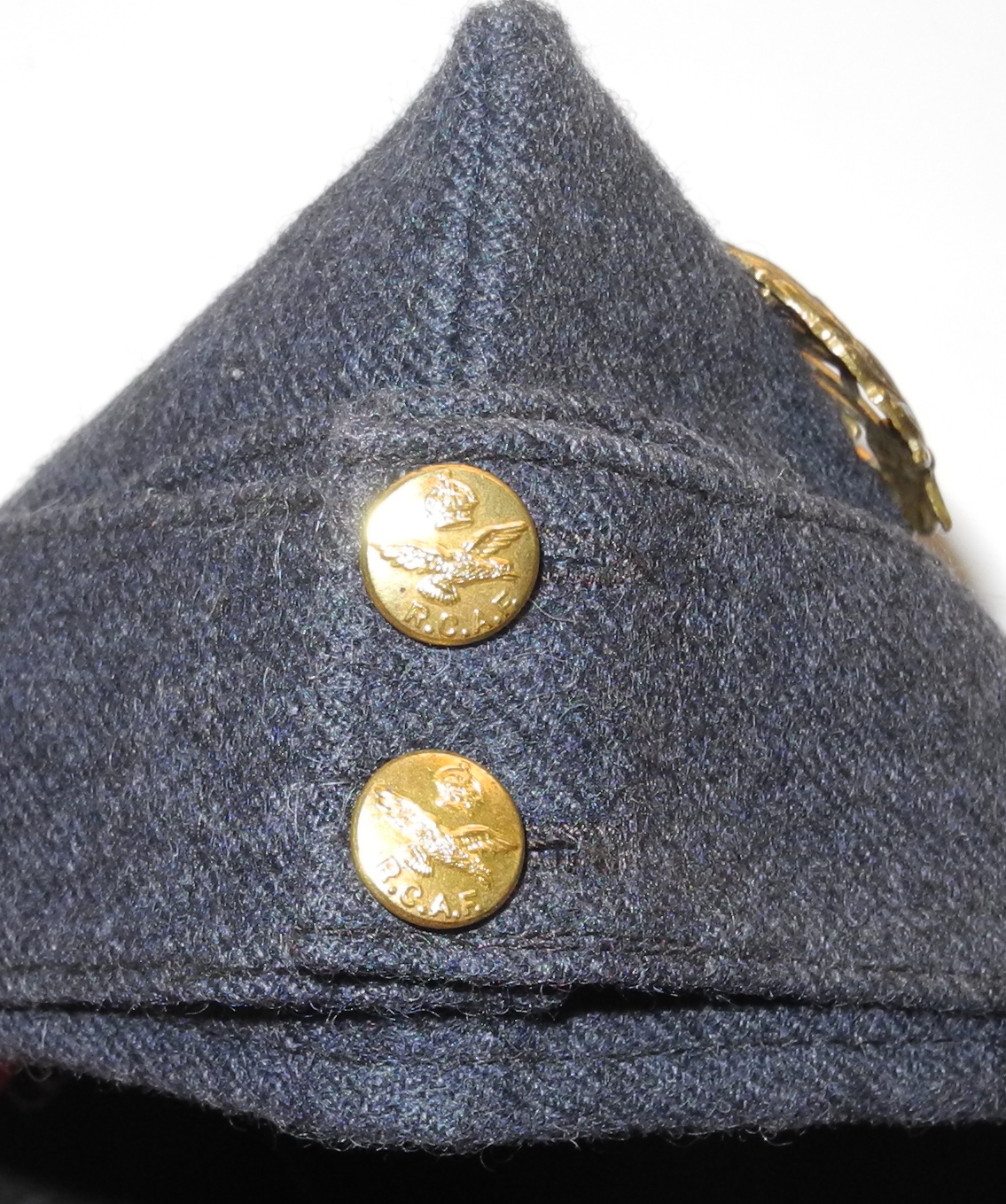 RCAF other ranks sidecap with badge - huge size