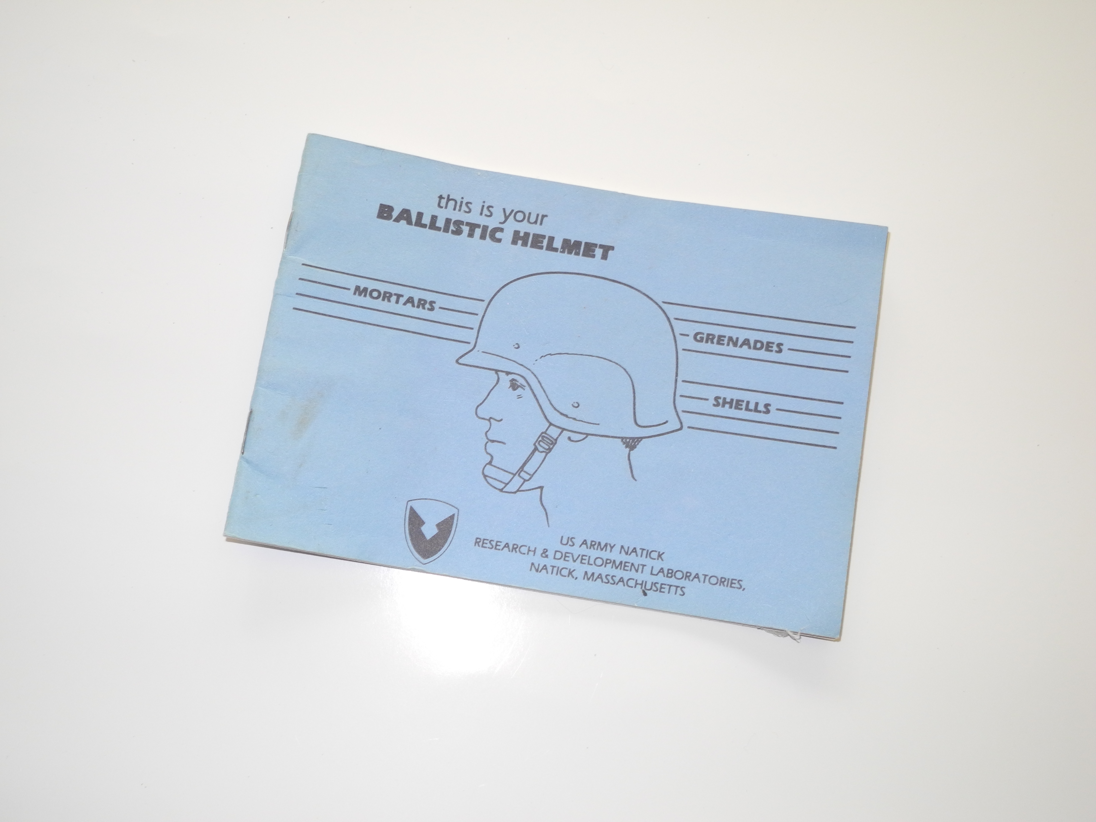 US Kevlar helmet instruction book