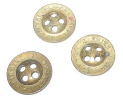 Brass trouser buttons