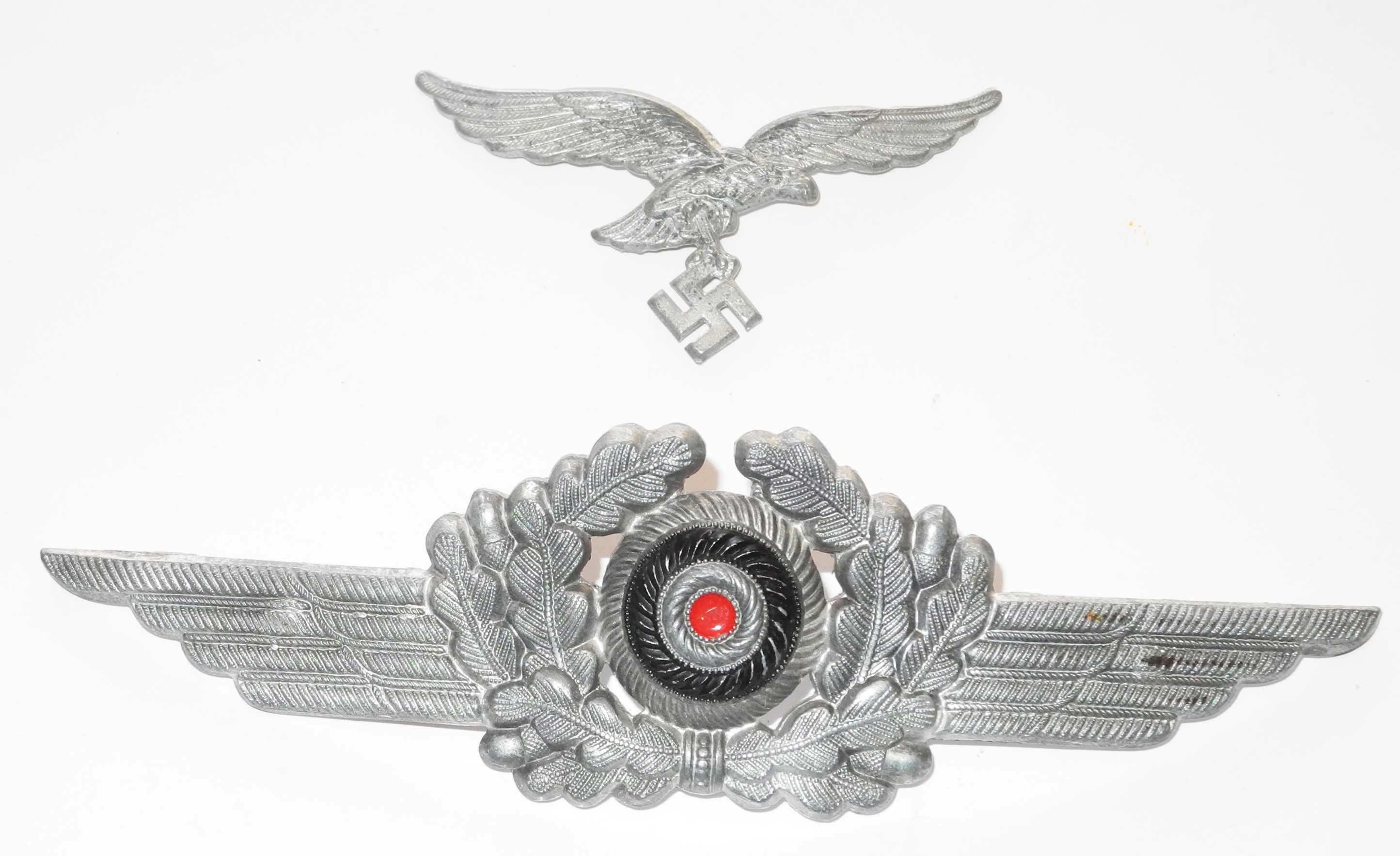 Luftwaffe other ranks cap badges/set