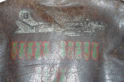 "A-2 jacket painted ""Rigor Mortis Express"""