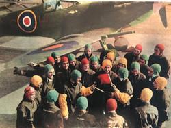 WWII Royal Navy Fleet Air Arm aircraft carrier deck handler's helmet