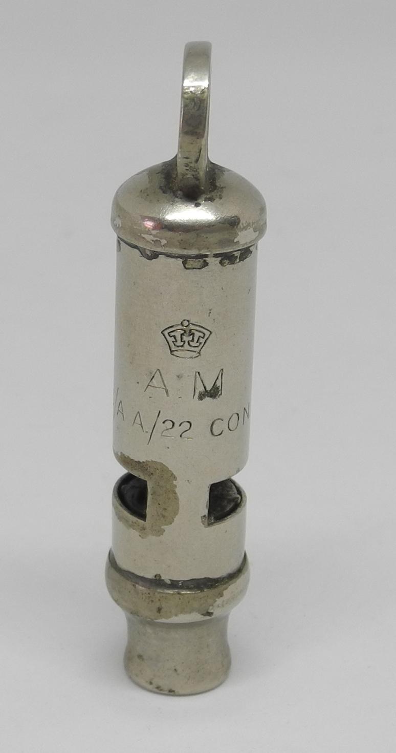 RAF whistle for 1941 patt. life vest