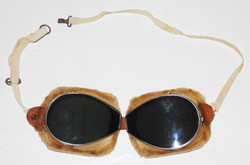 WWI era French made flying goggles.