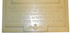 RAF War Savings Campaign Plaque 1943