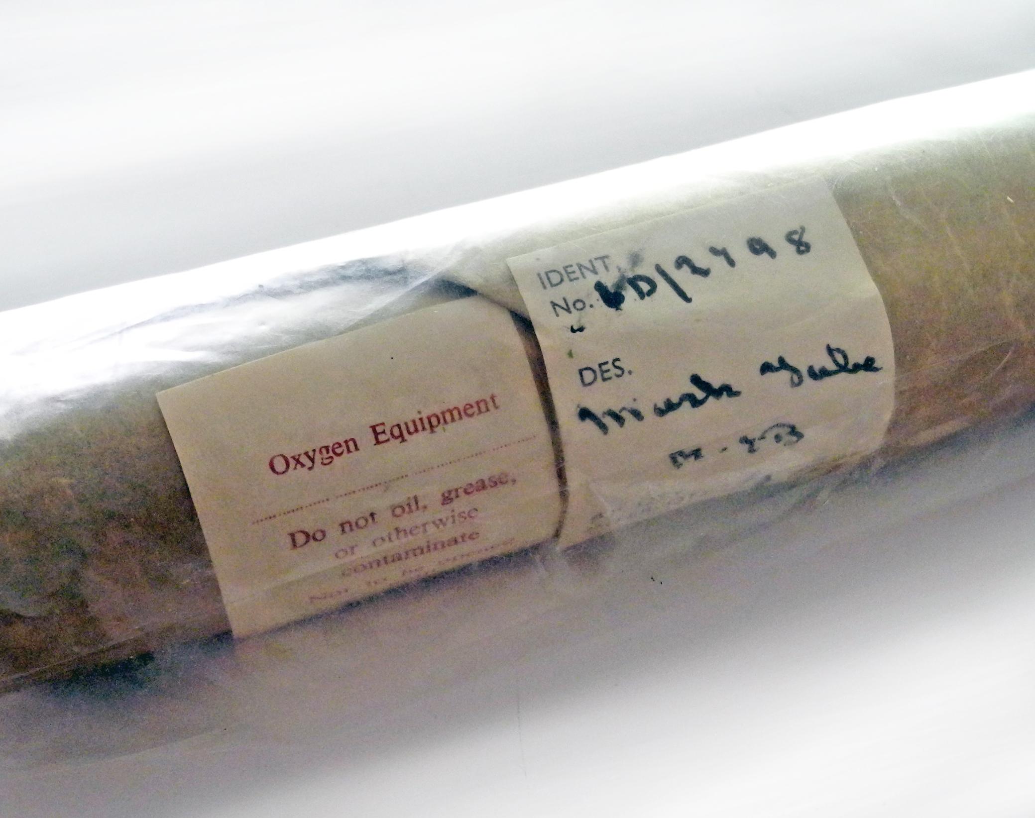 RAF H oxygen mask tube