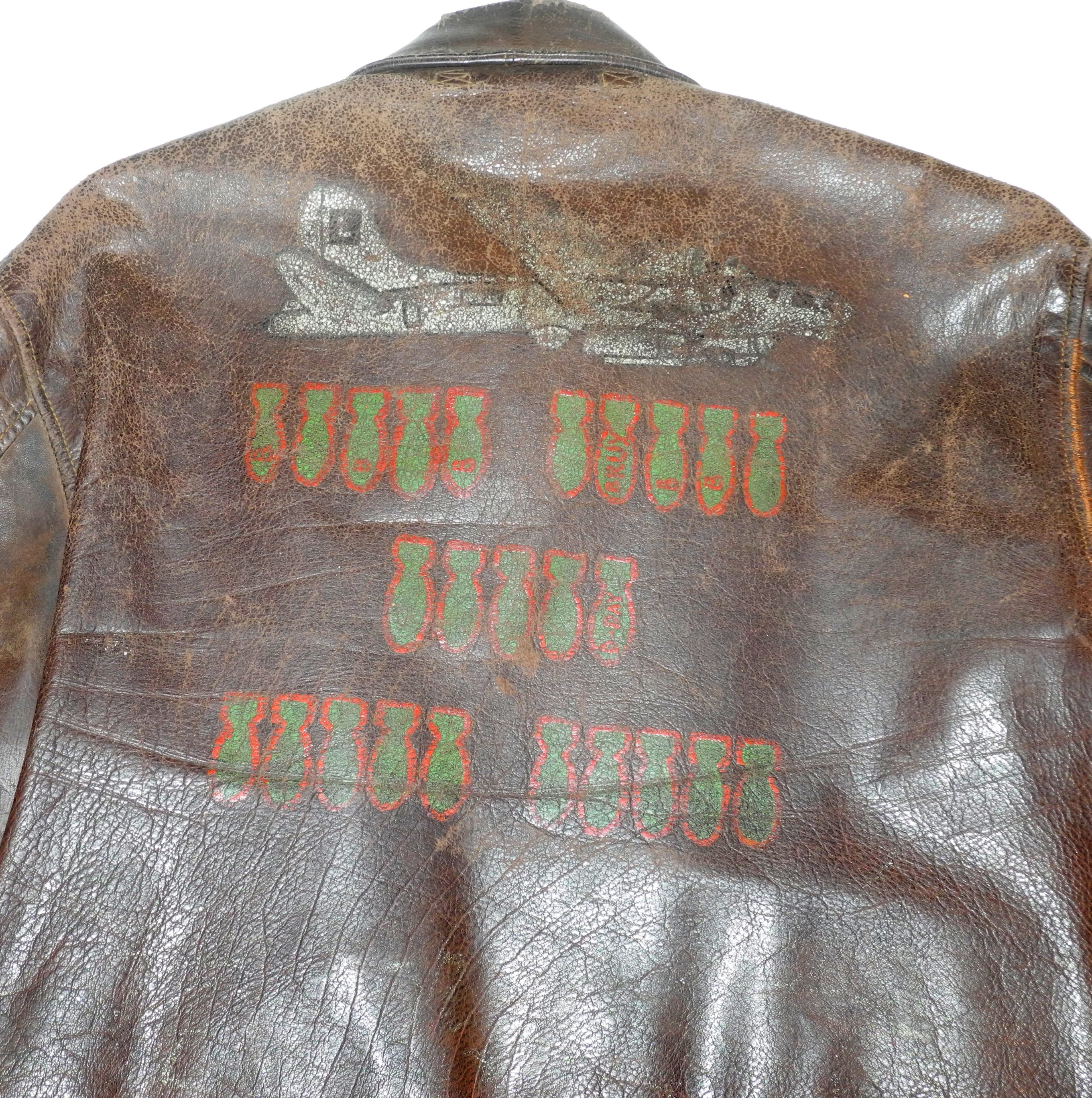 "A-2 jacket painted ""Rigor Mortis Express"""