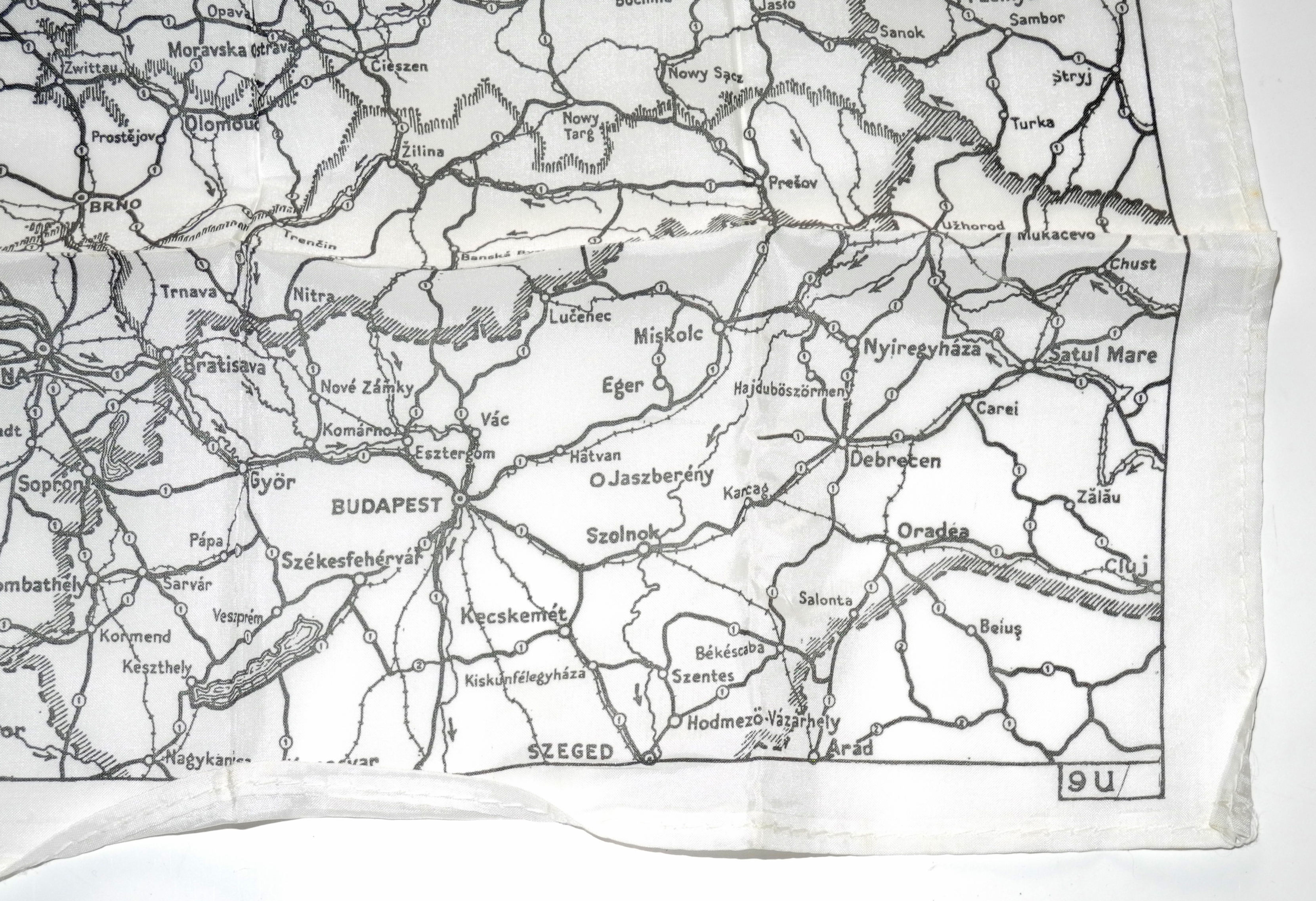 RAF Escape Map - Batholomew Series 9U - Germany
