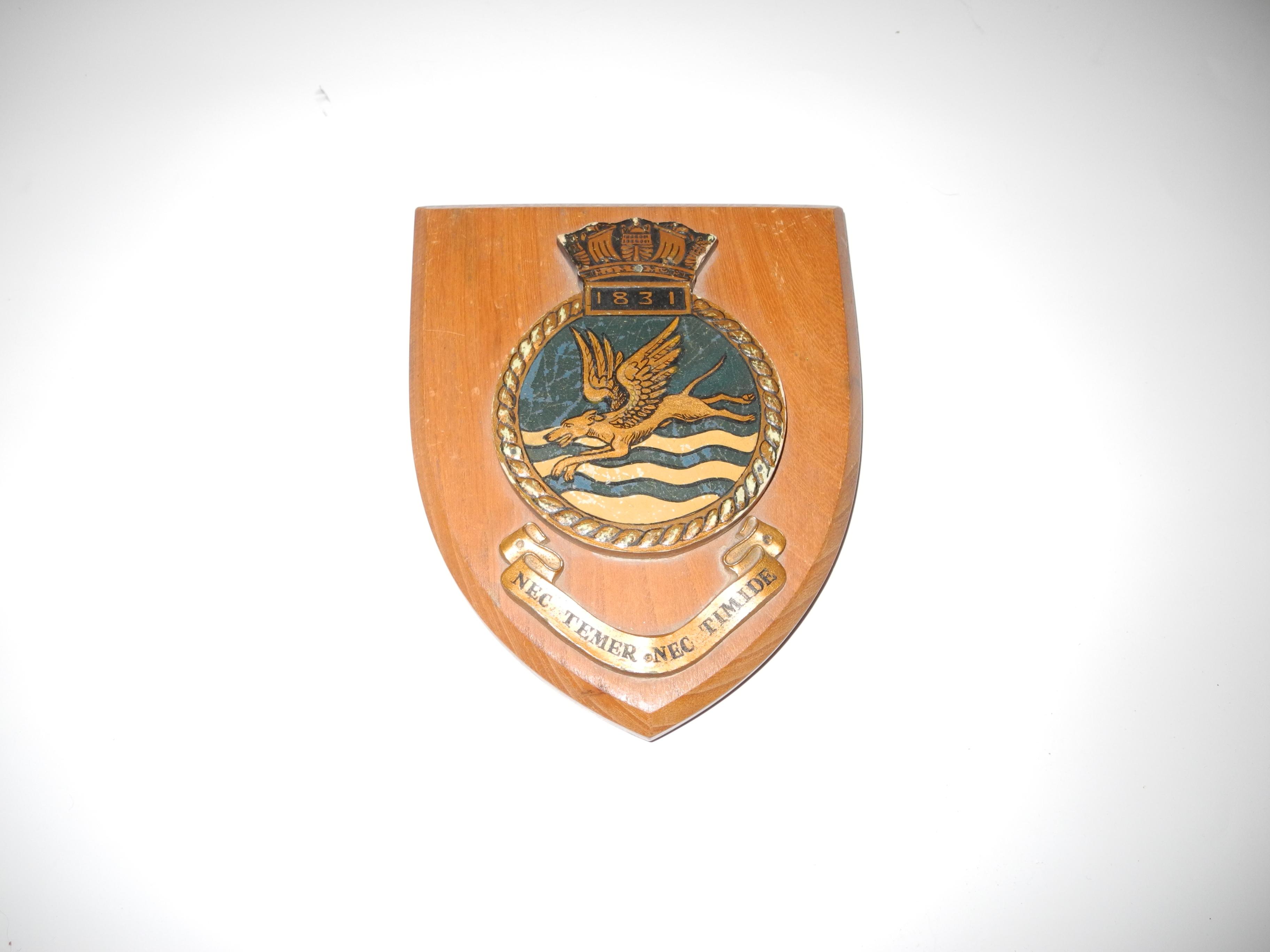 RN FAA 1831 squadron plaque