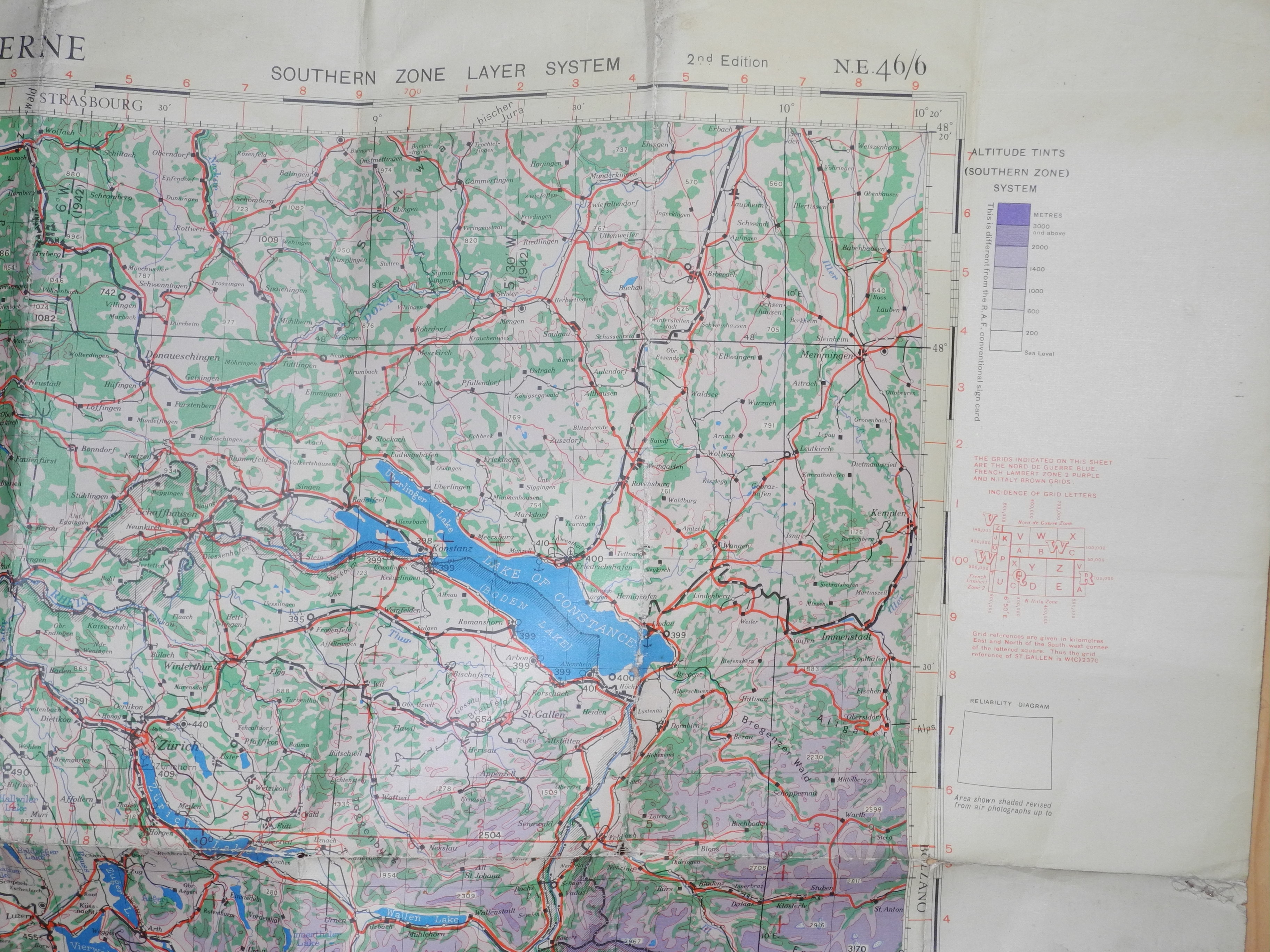 RAF navigational chart Bern / Milan