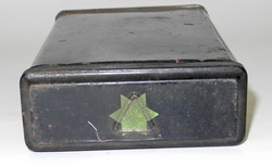 RAF signal flare tin container - double green star