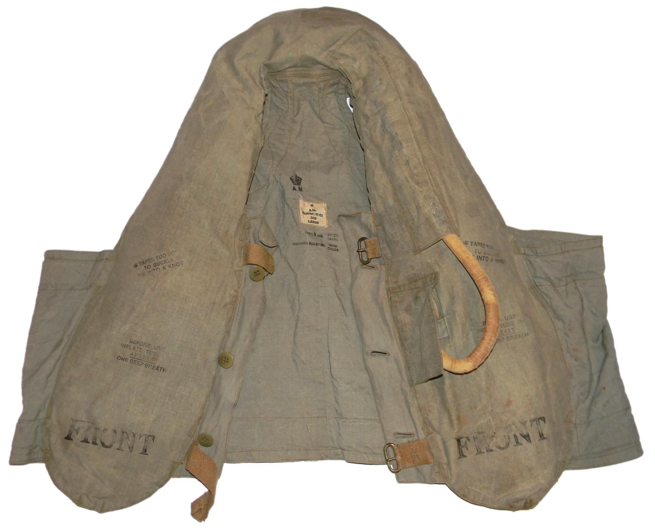 RAF 1932 pattern life vest stole