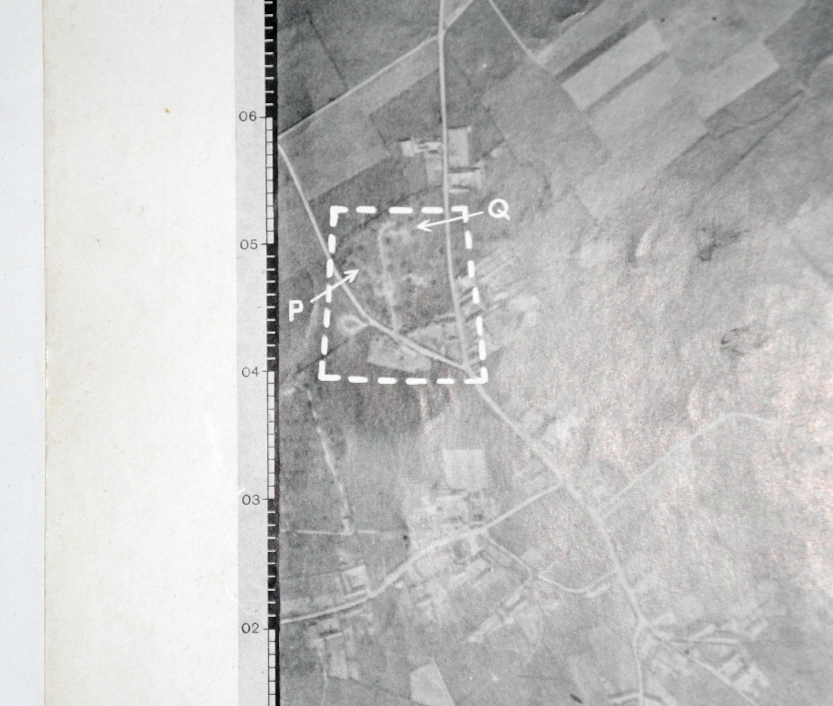 RAF Target map/photo for V-1 launch site, Fleury, France