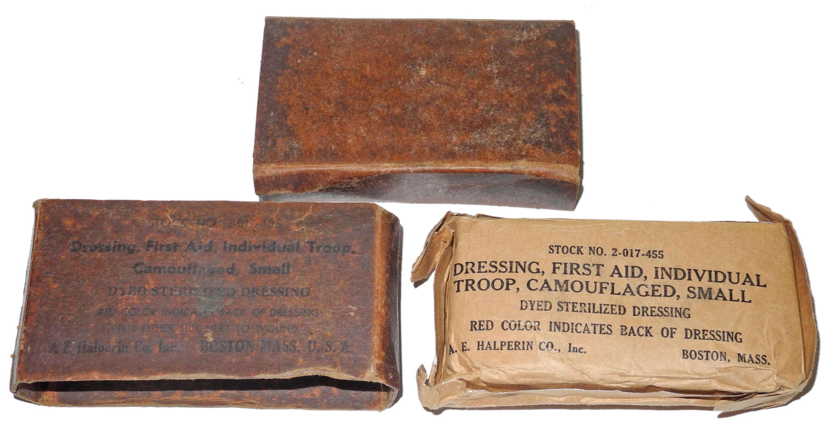 WWII US Army camo wound dressing
