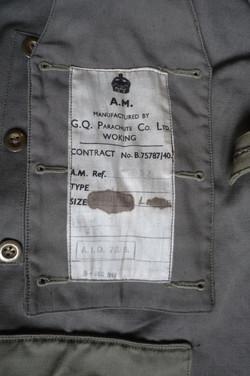 RAF GQ Parasuit dated 1940