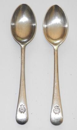 2 x WWII RAF demitasse spoons