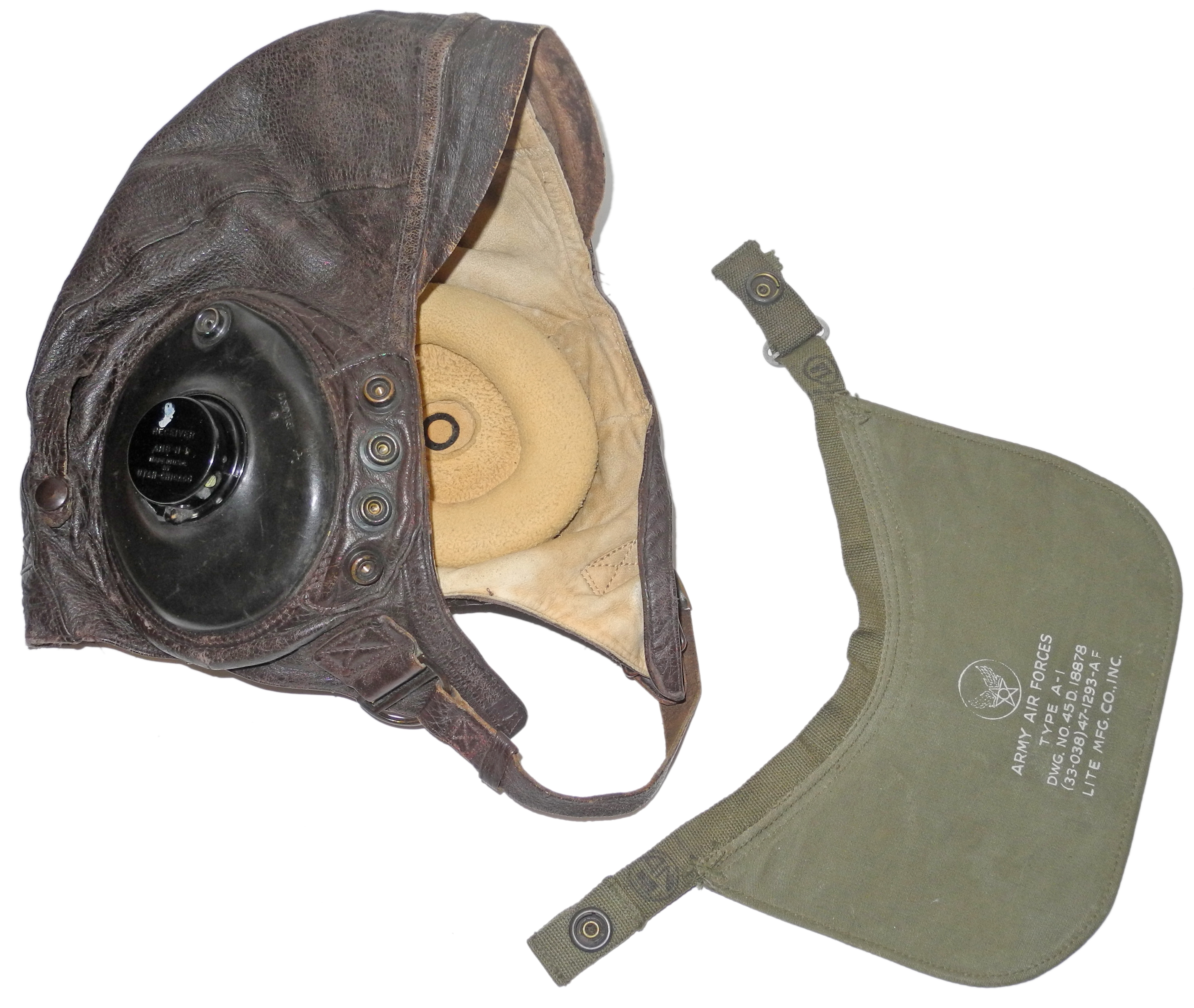 AAF A-11 helmet with A-1 visor028