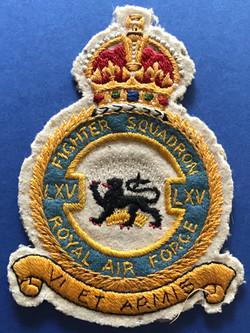 RAF prestige suit patch, 65 squadron