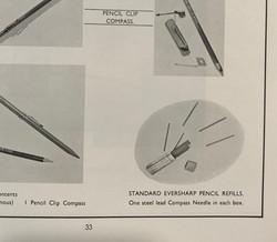 RARE MI9 Escape Item: propelling pencil lead compass