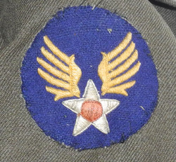 AAF enlisted mans service dress tunic with badges
