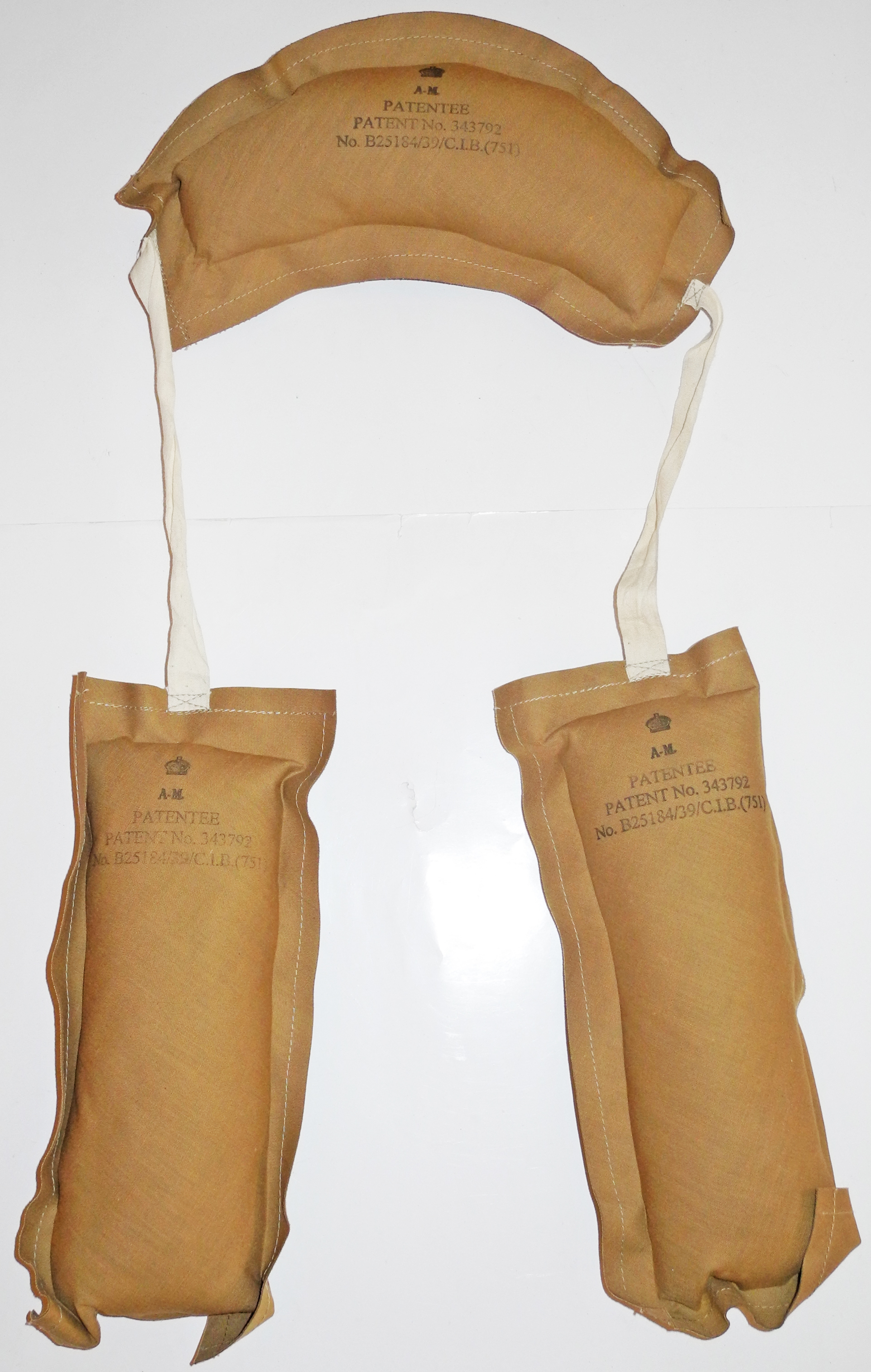 Reproduction kapok pads for the 1932 pattern mae west