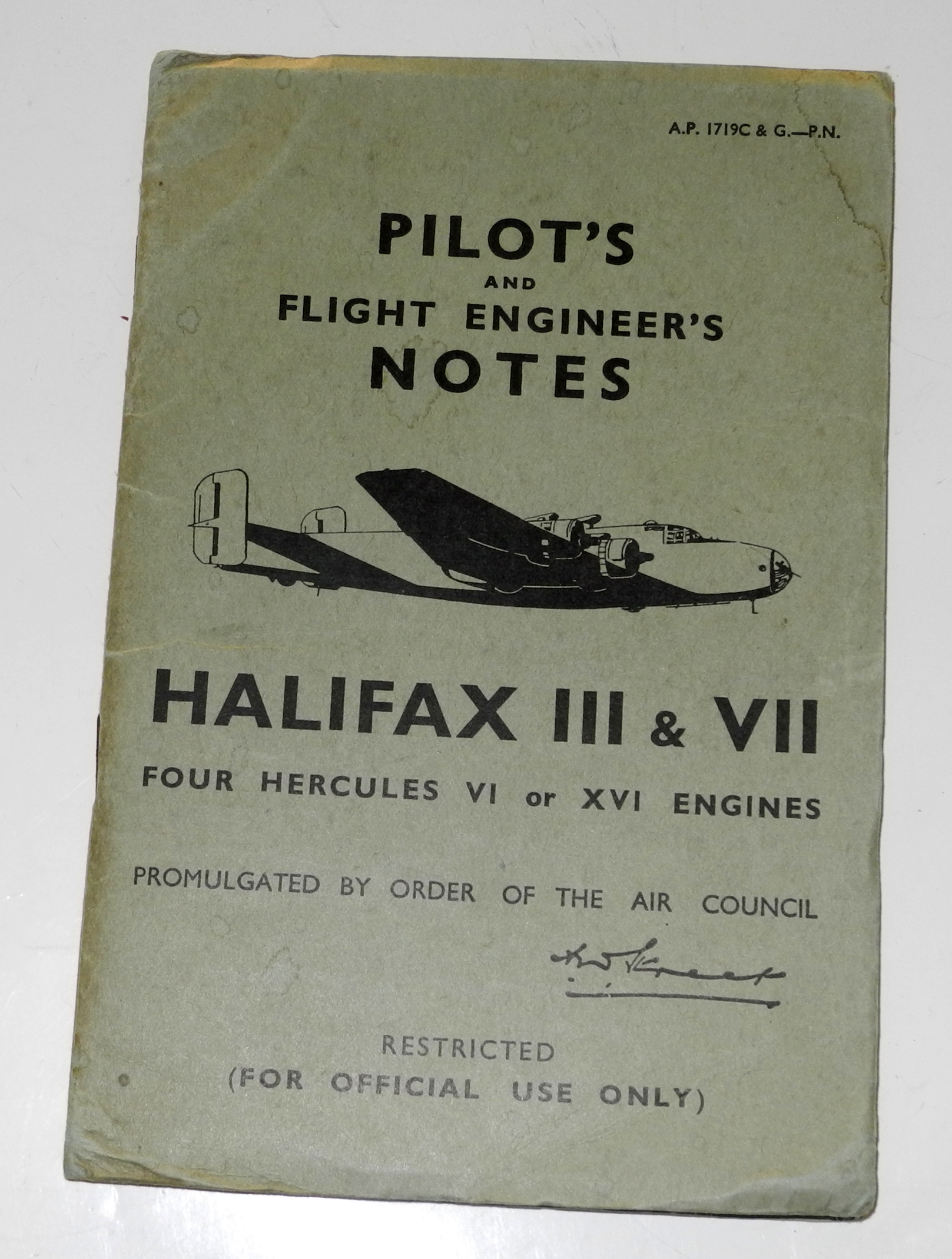 RAF Pilot's Notes for Halifax